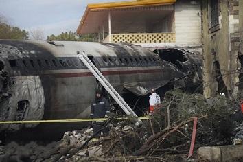 لاشه هواپیمای سقوط کرده در کرج